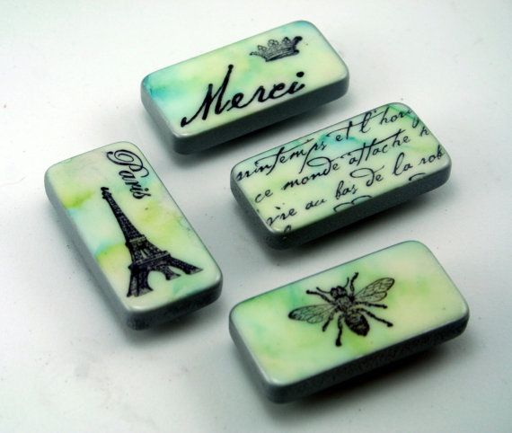 paris magnet set french domino magnets altered dominoes pastel merci eiffel tower bee. Black Bedroom Furniture Sets. Home Design Ideas