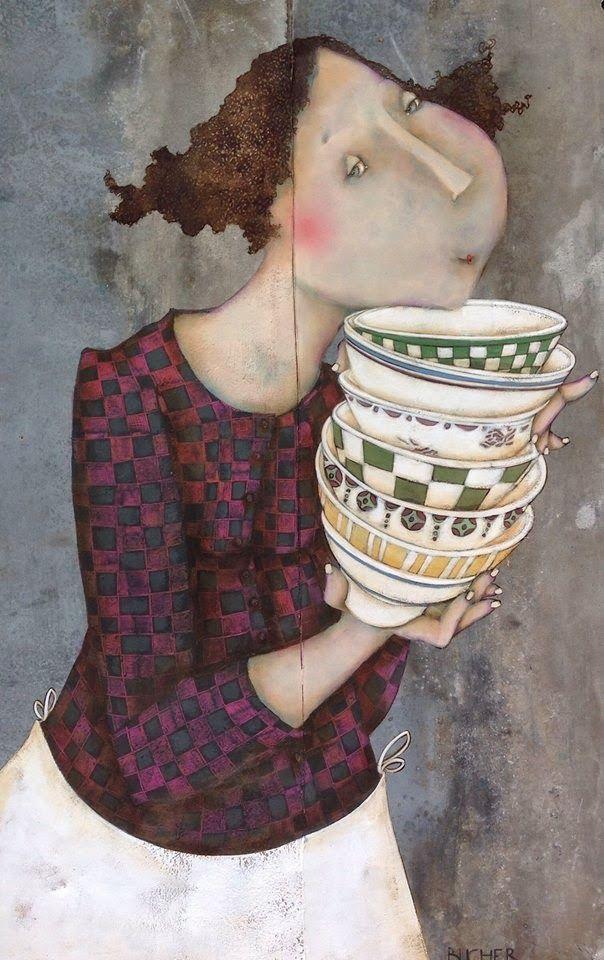 Pinzellades al món: Il·lustracions de Magalie Bucher: joventut femenina