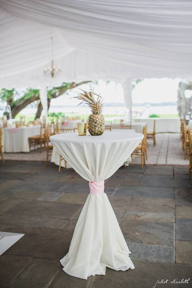 Cocktail Hour  Lily Pulitzer  Pineapple Centerpieces  Light Pink ...