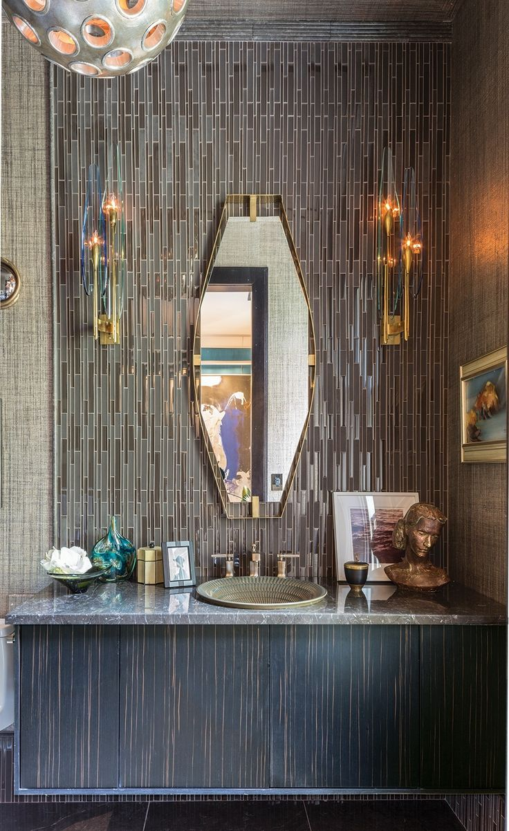 bath design by charles pavarini for the 2015 kips bay show house featuring akdos narrow - Mosaic Tile House 2015