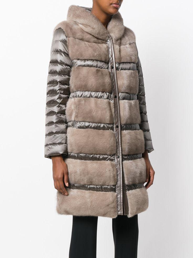 Cara Mila дутое пальто 'Astrea' с отделкой мехом норки