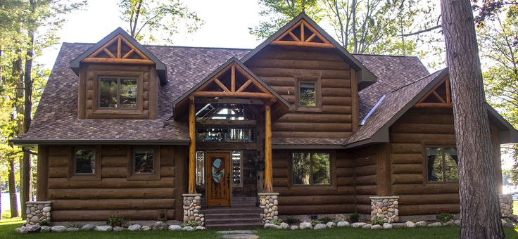 25 best log siding ideas on pinterest for Faux log homes