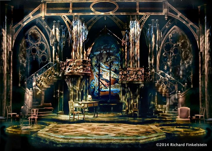 1. Revivals: (Greek, Gothic and Romanesque Revivals) A. Gothic Revival - Amadeus Set Design by Richard Finkelstein, Stage Designer