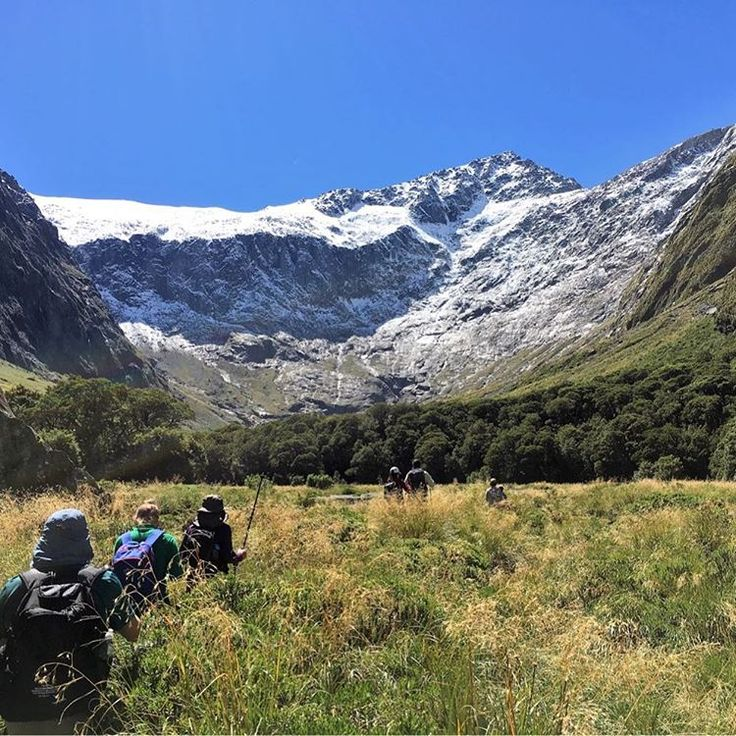 Venturing up the Gertrude Saddle route in Fiordland National Park.  Pic entered / taken by @sammilanyon on our Ultimate South hiking trip