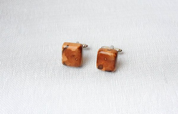 Cufflinks from pear tree, wooden cufflinks, by Mazunii on Etsy