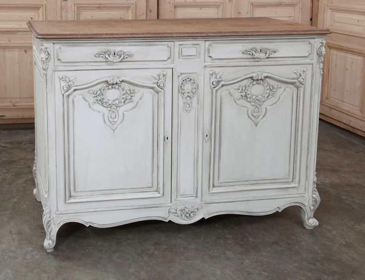 Antique and Vintage Painted Furniture | Antique Country French Buffet  | Inessa Stewart's Antiques