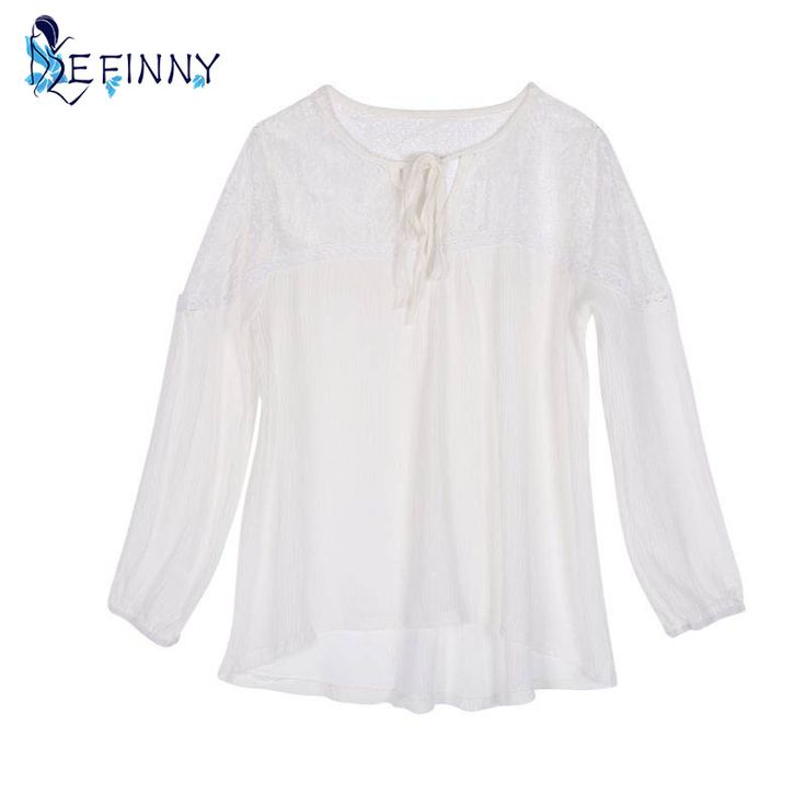>> Click to Buy << Sexy Fashion Women's Lace Tops Tee Long Sleeve Blouse  Casual Transparent  Blouses  Loose Clothing #Affiliate