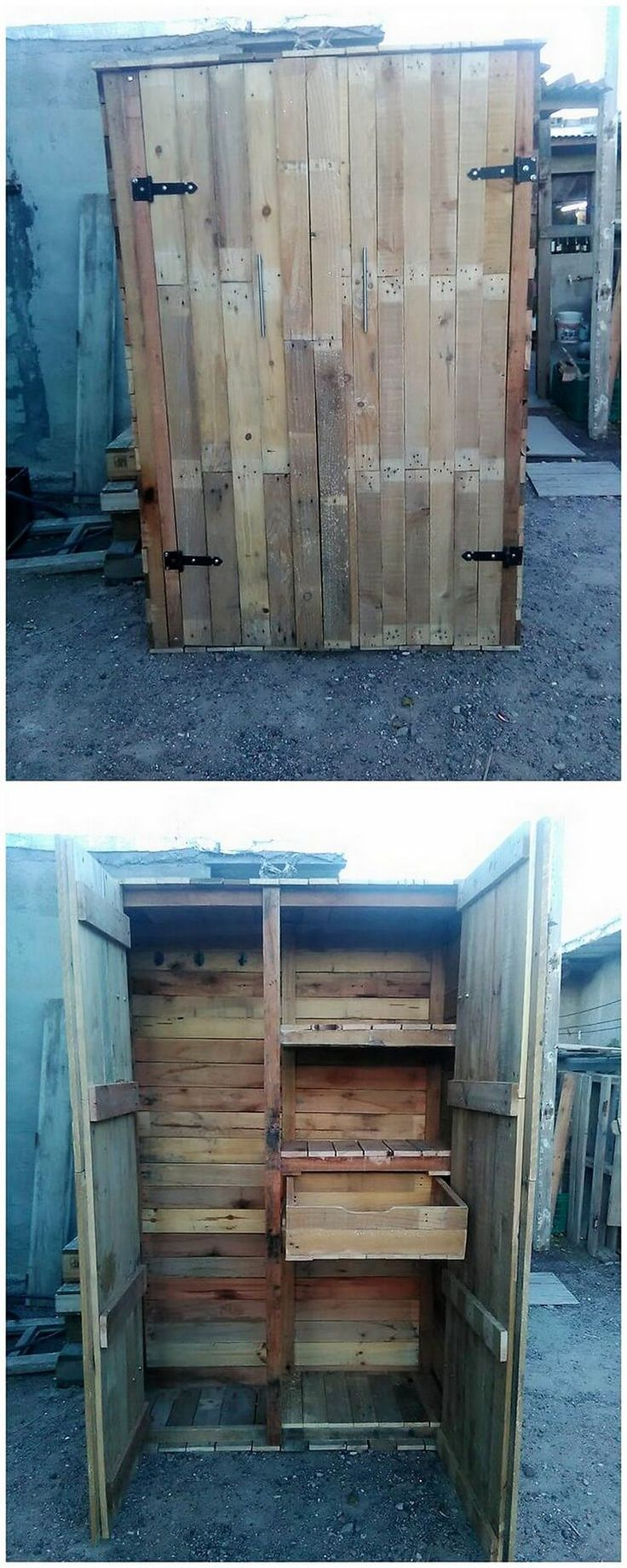 In availing the old shipping pallets into something really exciting, you would ideally be mentioning with the concept of wood pallet wardrobe options of creations. It has been divided into the portions of the cabinets where you will often encounter with the taste of drawers too.