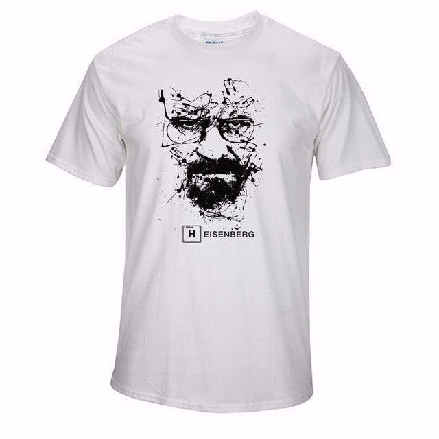 "Men""s heisenberg breaking bad print T shirt"