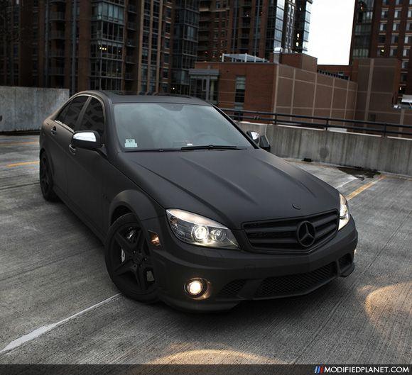 Car photo mercedes benz c63 amg flat black exterior paint for Matte paint car
