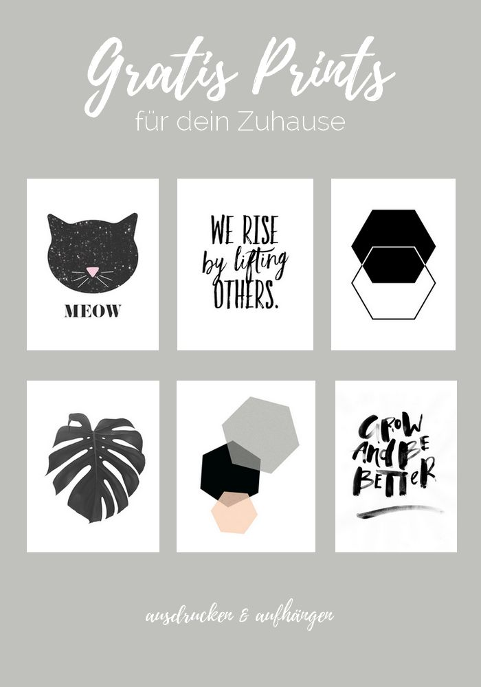 DIY Marmor Bilderrahmen + 6 Gratis Prints zum Ausdrucken