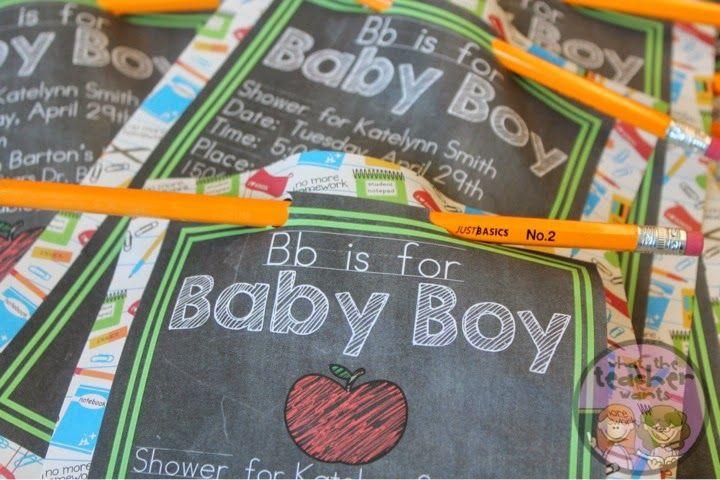 A Teachers Baby Shower - What the Teacher Wants! Super cute ideas for a fellow teacher's shower!