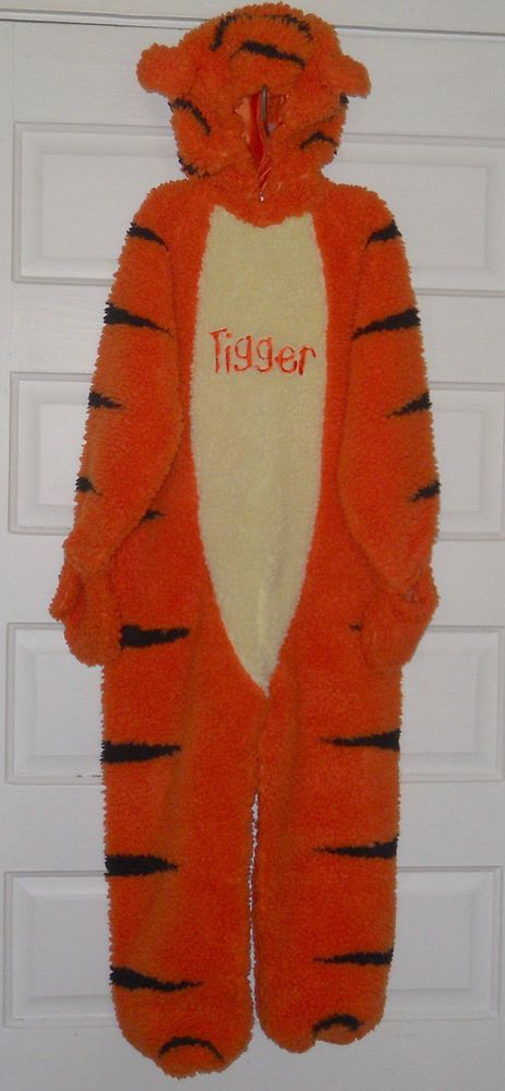 Tigger Disney Store Costume 4 - 6 Sound Talks Halloween Full Body Thick Sherpa #DisneyStore #CompleteOutfit