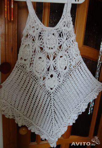 Crochet dress tunic beach
