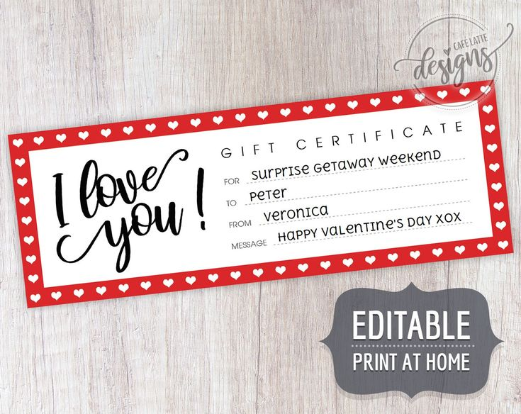 Fathers day gift certificate printable editable template