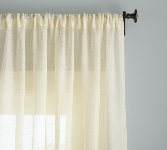 17 best images about boys bedroom curtains on pinterest for Linen sheer window panels