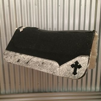 This custom western saddle pad comes with Black Speckle – Black Cross! FREE Shipping! #besteverpads