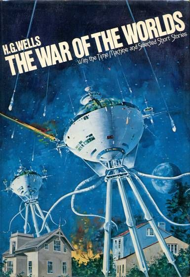 The War of the Worlds - Platt & Munk, 1978 | Cover art by Vincent Di Fate | Graphical elements: Tripods: