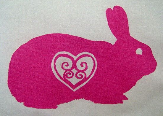 Bunny Heart Baby or Travel Pillowcase by BigHeartCompanyUK on Etsy