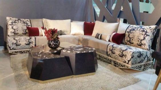 Salon marocain - table basse - salon marocain design - deco - Meublatiss