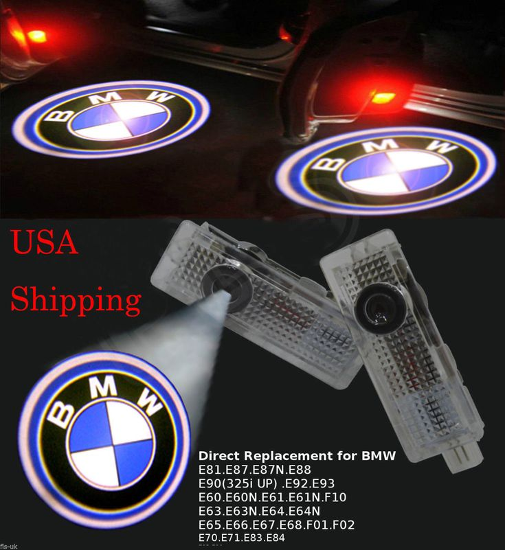 Cool Great 2pcs Car Door LED Logo Laser Courtesy Emblem Shadow Projector Lamp Light for BMW 2017 2018