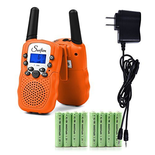 Swiftion Rechargeable Kids Walkie Talkies 22 Channel 0.5W FRS/GMRS 2 Way Radios with Charger and Rechargeable Batteries (Bright Orange, Pack of 2). For product & price info go to:  https://all4hiking.com/products/swiftion-rechargeable-kids-walkie-talkies-22-channel-0-5w-frs-gmrs-2-way-radios-with-charger-and-rechargeable-batteries-bright-orange-pack-of-2/