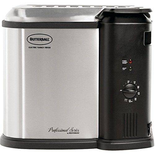 Masterbuilt Butterball Indoor Electric Turkey Fryer >  � 8 liters;� Frys turkeys up to 14lbs;� 1,650W electric heating element;� Chrome-wire cooking basket with drain clip;� Analog controls & timer with thermostat;� Temperature contr...