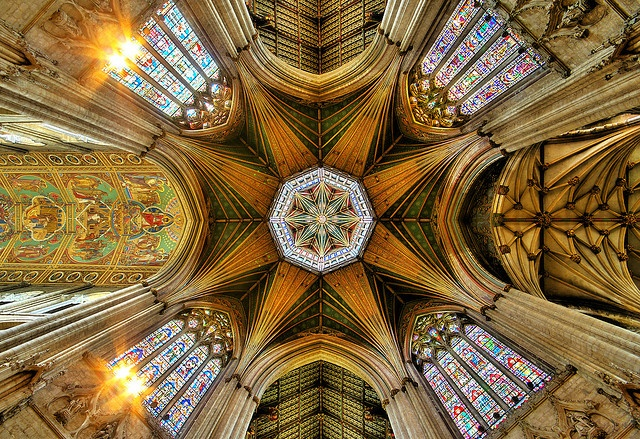 The ceiling at Ely Cathedral, Cambridgeshire, England; one of the most beautiful cathedrals in England.