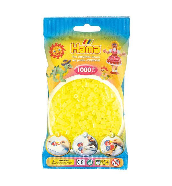 Hama Midi Amarillo Neón 1000 piezas