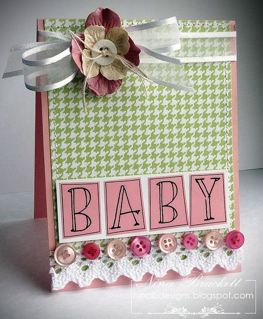 Shabby BABY Card ⊱✿-✿⊰ Join 1,300 other & follow the Cards and paper crafts board. Visit GrannyEnchanted.Com for thousands of digital scrapbook freebies. ⊱✿-✿⊰