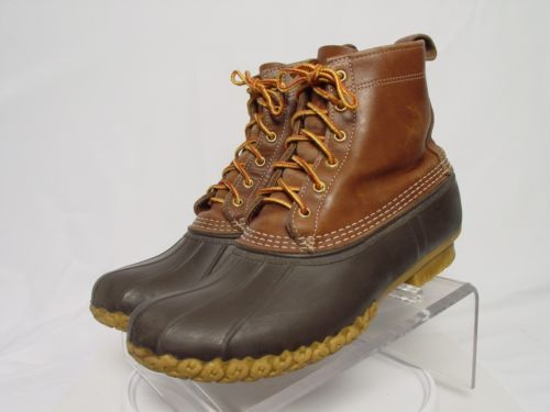 USA LL BEAN BOOTS Men 10.5-M WATERPROOF Brown Boat Duck Hunting Muck Mud Boot