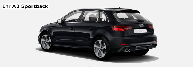 black audi a3 sportback 2017 voiture pinterest voitures. Black Bedroom Furniture Sets. Home Design Ideas