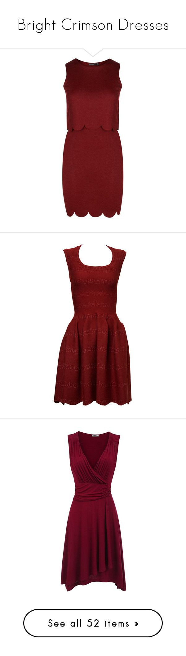 """""""Bright Crimson Dresses"""" by tegan-b-riley on Polyvore featuring dresses, red, sequin maxi dress, sequined dresses, red maxi dress, red sequin dress, sequin bodycon dress, clothing /, kirna zabete and polka dot dresses"""