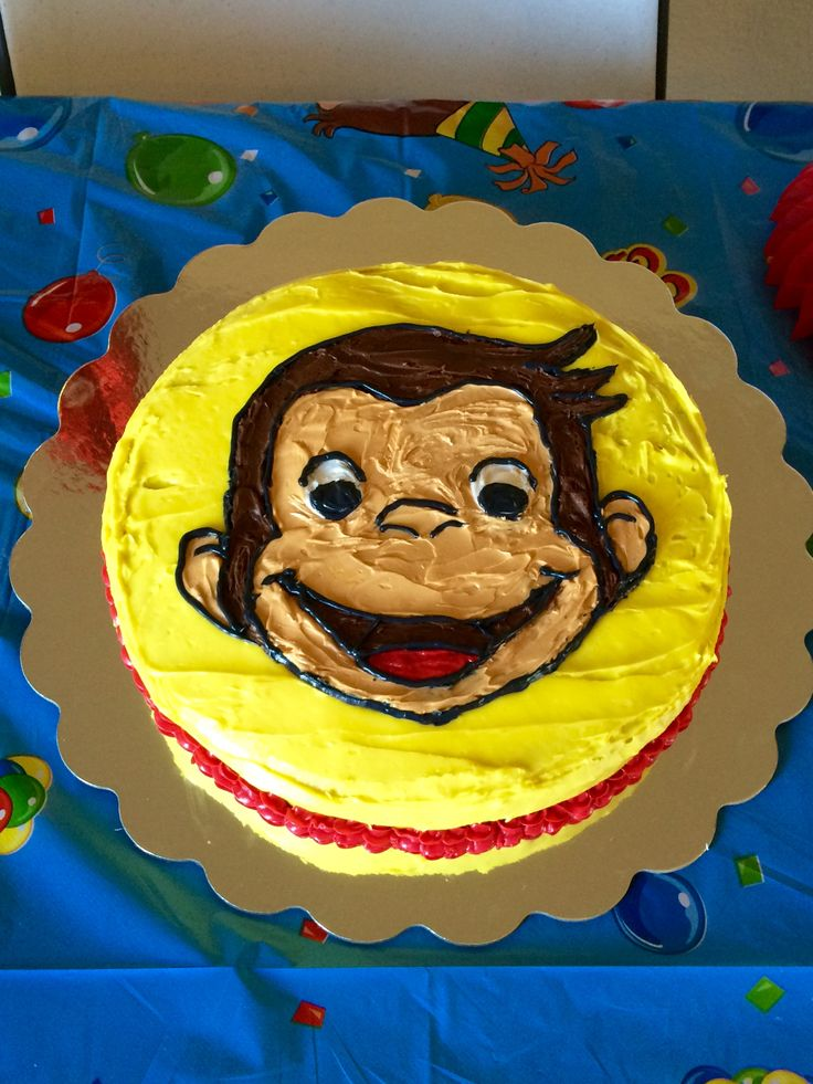 274 best curious george cake designs images on pinterest for Curious george cake template