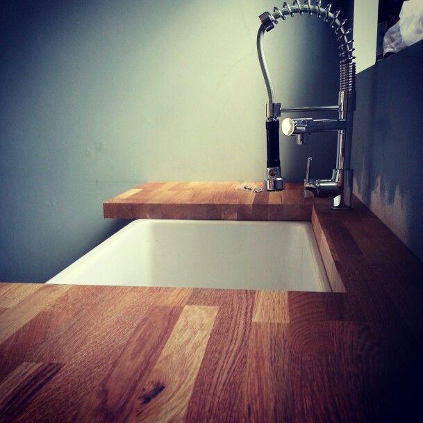 Our kitchen belfast sink is in