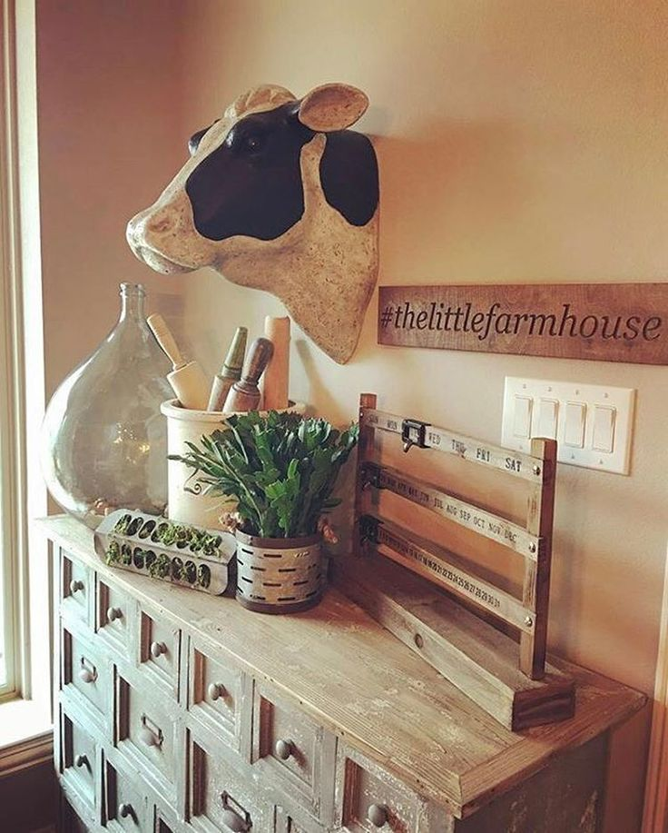 What a moooo-ving #homedecor style you have Jennifer! Thx for including our Cow Head in your #home!  #decoratingideas