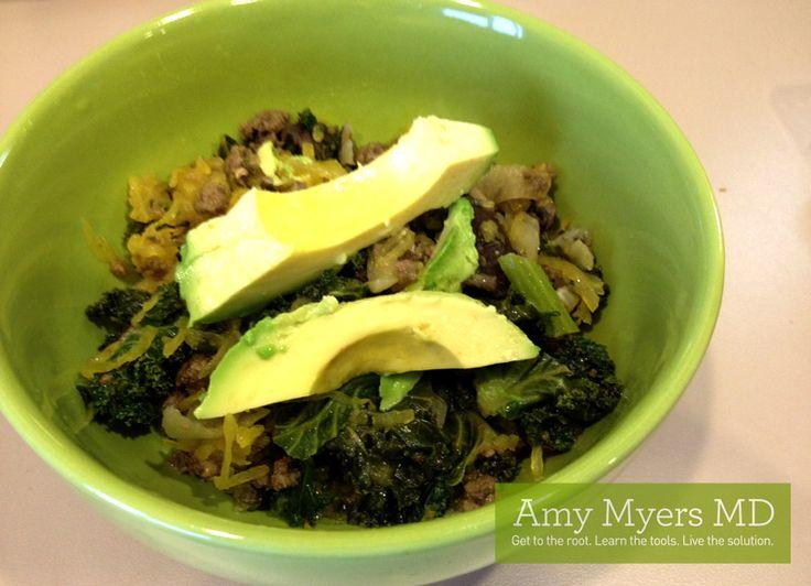 Spinach and Mushroom Spaghetti Squash Casserole