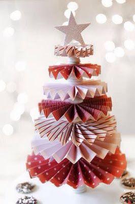 Crea Arboles de Navidad con Papel, ¡¡Maravillosas Ideas!!