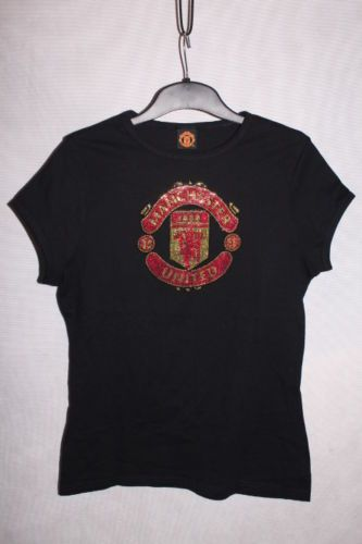 1d2a3c55 Details about manchester united fc shirt women size 14 XL shiny logo ...