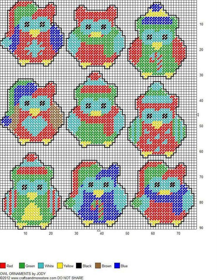 381 best Plastic Canvas Ornaments images on Pinterest  Plastic