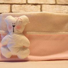Cestino contenitore portapannolini e bagnetto con orsetto, cestina porta pannolini ,beauty per bimbo, basket pota oggetti