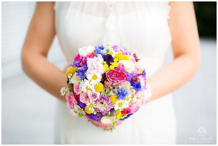 Hochzeitsfotograf Hannover Milles Fleurs# Vintage# Bouquet# bunt# margeritten# Kornblumen