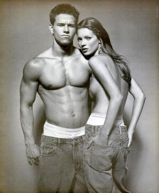 Kate Moss and Mark Whalberg, 1992