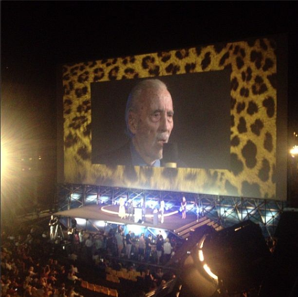 sir Cristopher Lee perfectly speaking Italian #Locarno66
