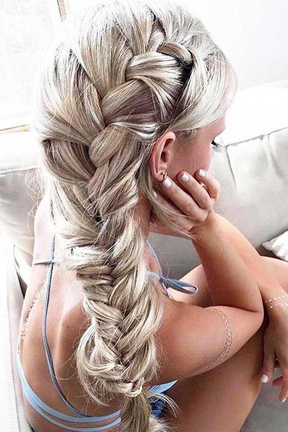 Elsa hair side braid tutorial
