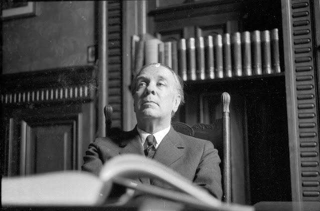 Borges todo el año: Jorge Luis Borges: El espejo de tinta - Foto: Borges retratado por Sameer Makarius