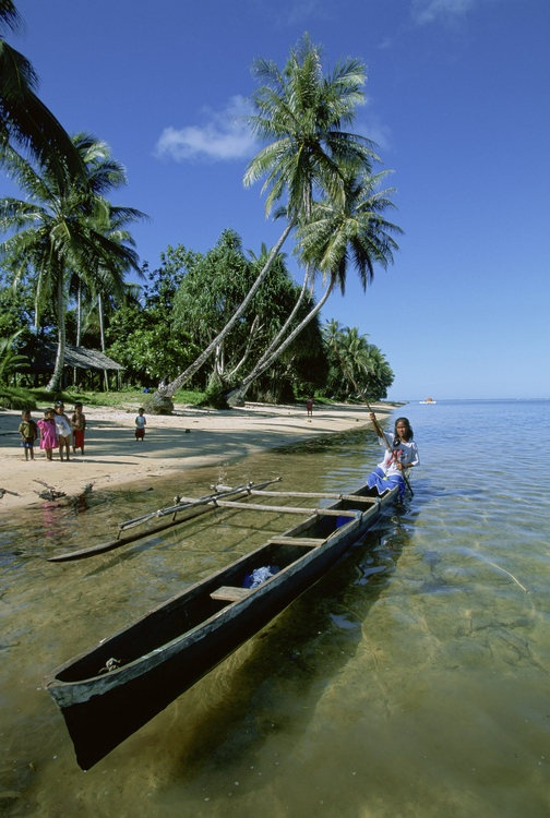 Technology in Federated States of Micronesia is making boats.