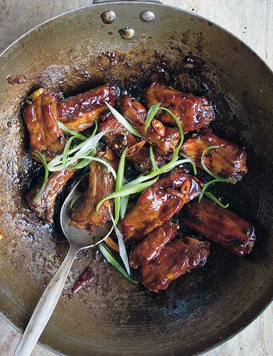 Caramelised sticky-sweet Vietnamese pork ribs with salty chilli garlic flavours take no time to prepare and even less time to eat...