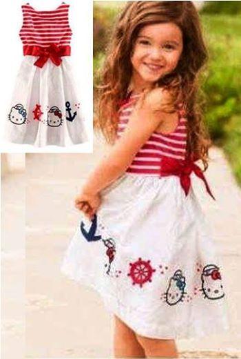 Dress Sailor Kitty Kid Bahan Spandex     Untuk anak umur 3-5 tahun     Harga : Rp. 77.000,-/pc     Kode Produk / Product Code : BAP2840
