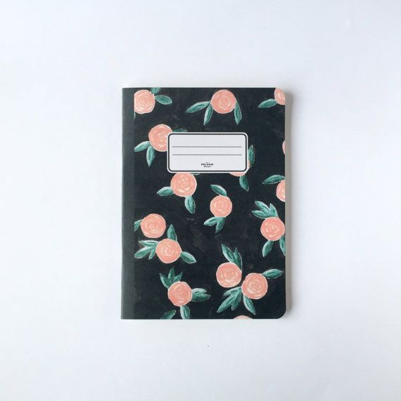 Winter Roses Notebook  Blank pages  Lined pages by PelhamGoods